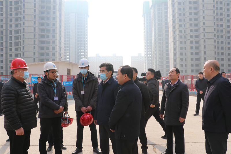 副省长、市委书记王战营到示范区调研联系基层代表和人民群众、督导安置房项目建设工作