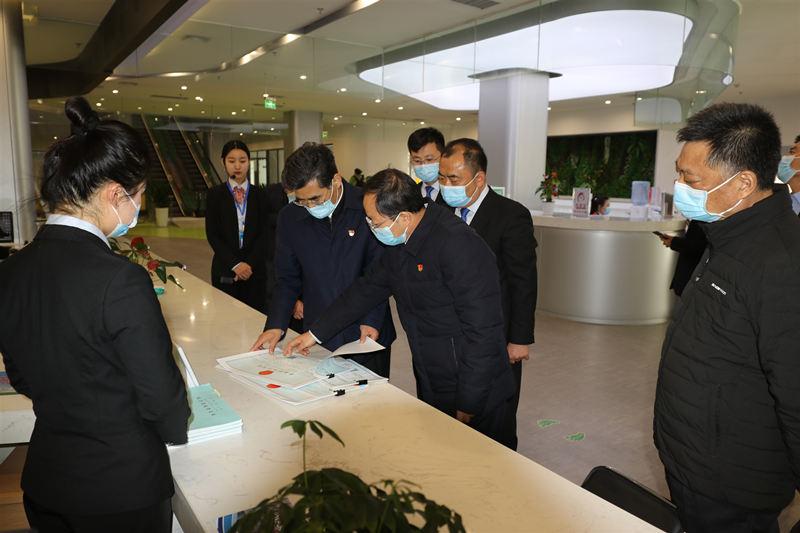副省长、市委书记王战营到示范区调研优化营商环境工作